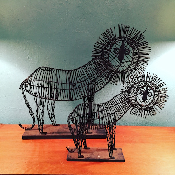 Handcrafted Metal Lions