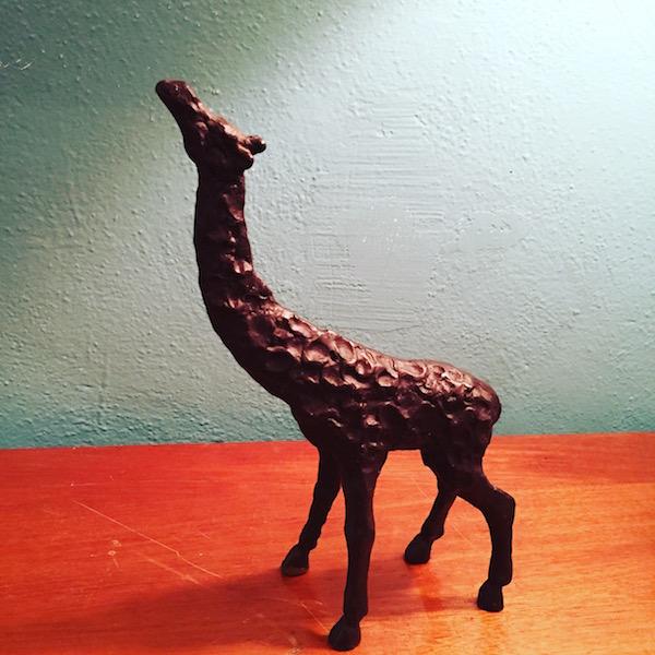 Mid-century Metal Giraffe Sculpture