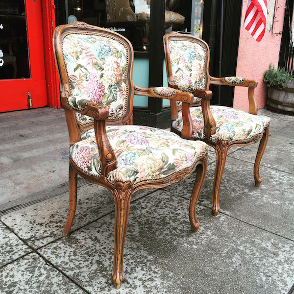 Pair of French-style Arm Chairs
