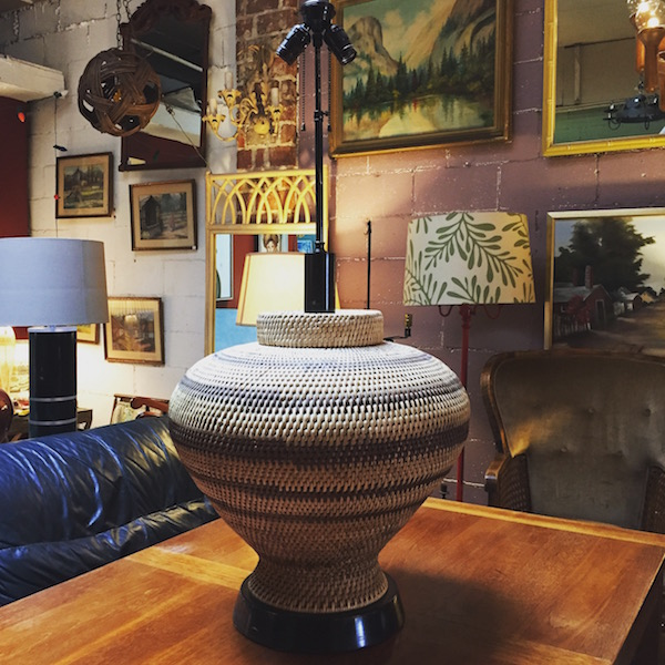 1960s Basket Lamp