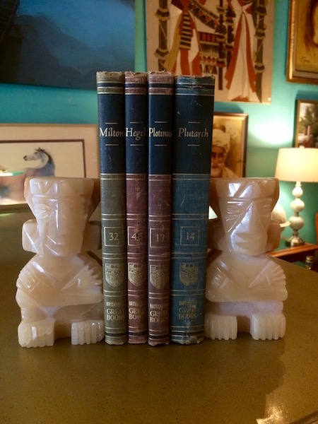 Hand Carved Marble Aztec Style Book Ends
