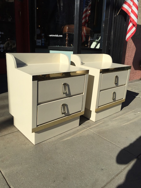 Pair of Ivory Night Stands