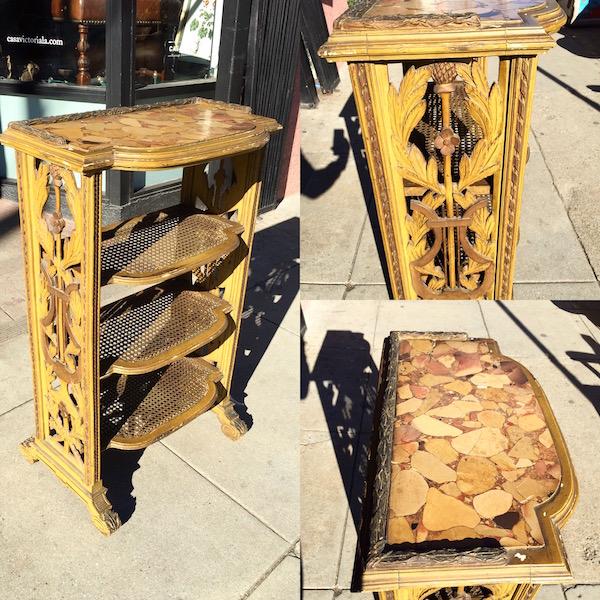 Vintage Gilded Bookcase