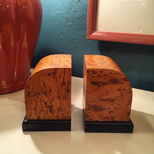 Pair of 1980s Modernist Bookends