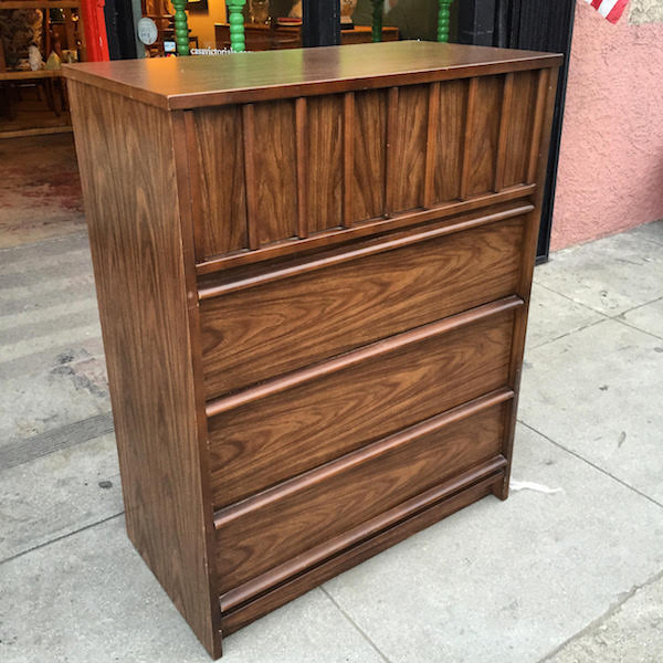 1970s Highboy Chest By Bassett Furniture