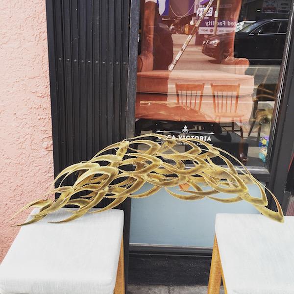Vintage 1970s Brass Wall Sculpture