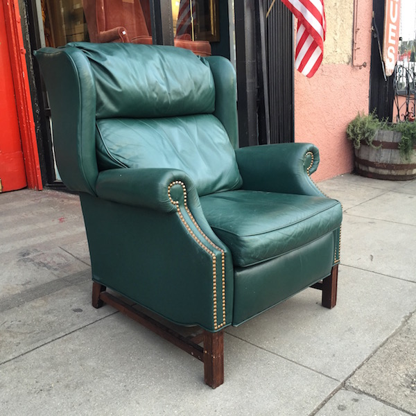 soul soothing leather wing chair by sherrill furniture u2014 casa victoria vintage furniture los angeles