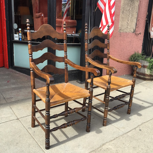 Pair of Ladder Back Hacienda Chairs