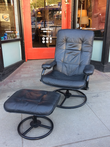 Leather Chair With Matching Ottoman