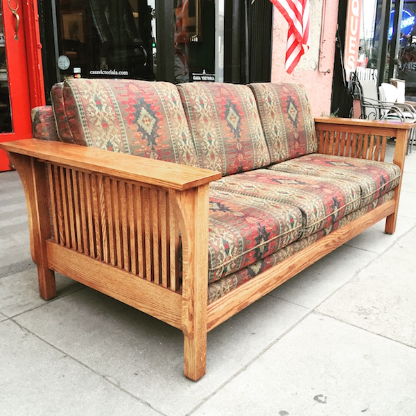 Mission-style Oak Sofa