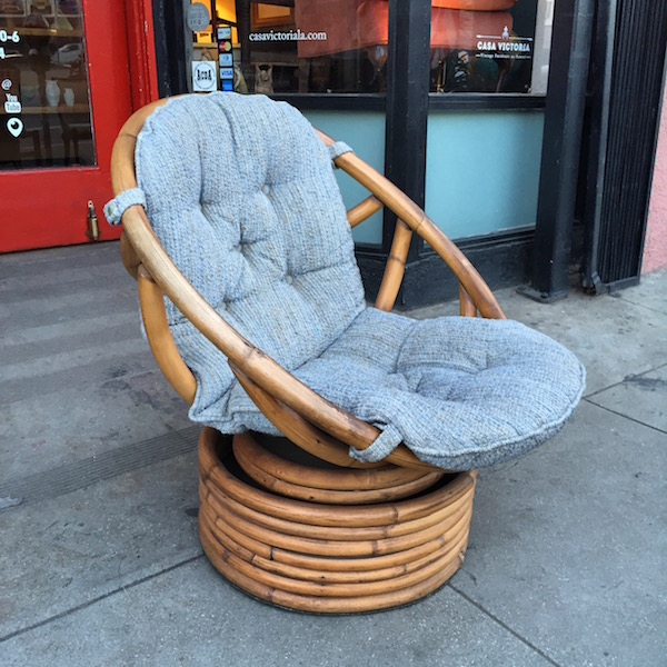 Rattan Rocker Chair With Swivel Base