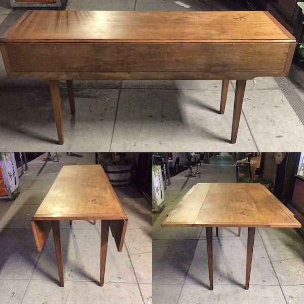 1960s Mid-century DREXEL Drop Leaf Table