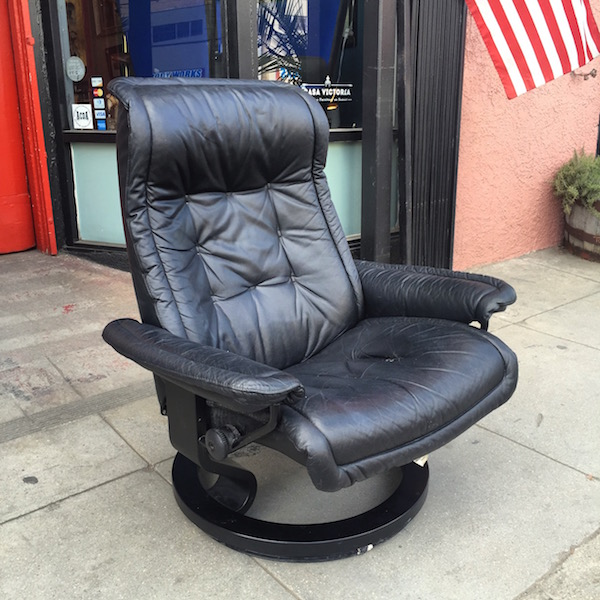 1980s Leather Recliner by EKORNES