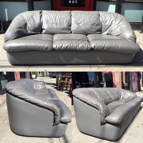 1980s Modernist-style Leather Sofa by Brianform