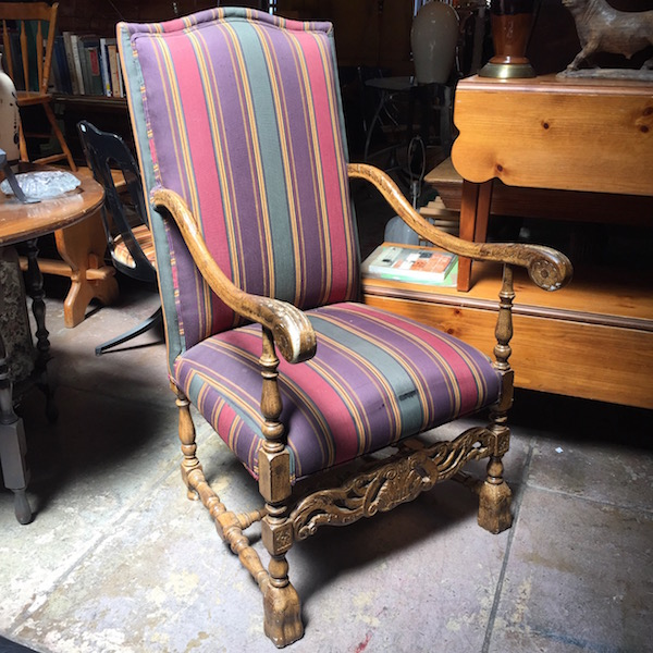 Vintage Spanish-style Arm Chair