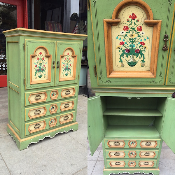 Superieur Botanicals Are Back | Vintage Hand Painted Chest By Stanley Furniture U2014  Casa Victoria Vintage Furniture Los Angeles