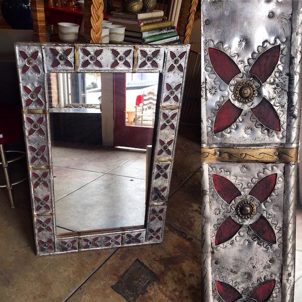 Vintage Metal Hacienda Mirror