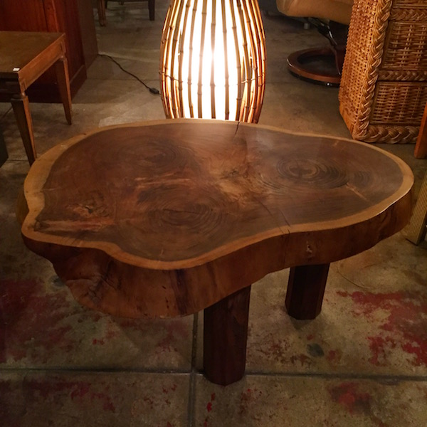Now and Then Modernstyle Wood Slab Coffee Table Casa Victoria