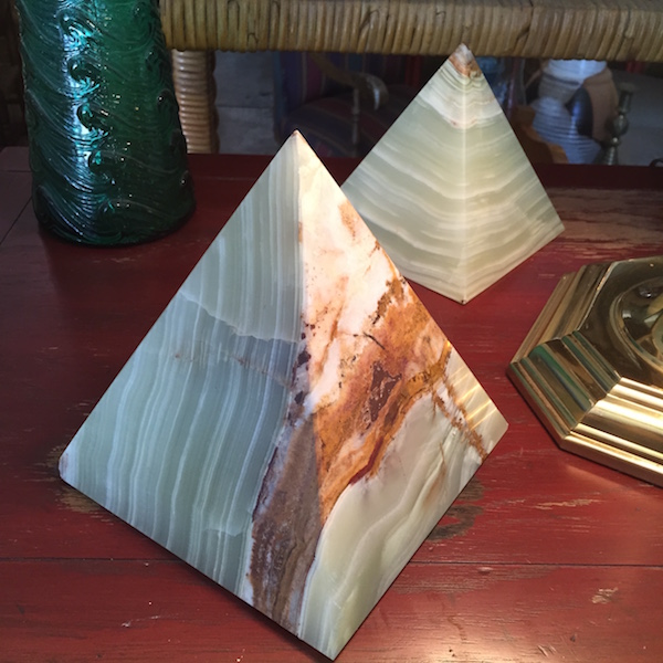 Pair of Onyx Pyramids