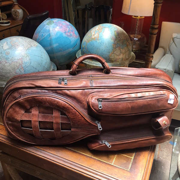 1970s Leather Tennis Bag