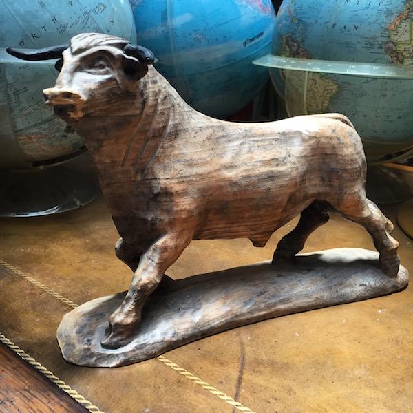 Vintage Bull Sculpture