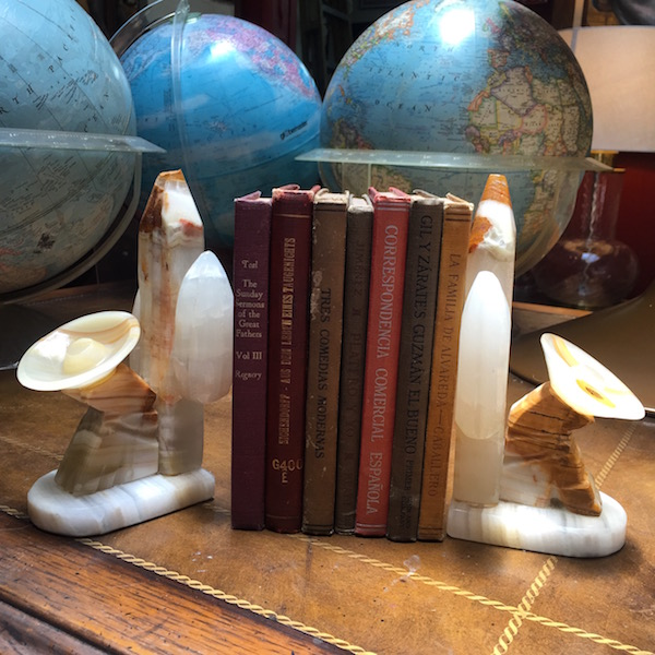 Set of Marble Sleeping Hombres Bookends