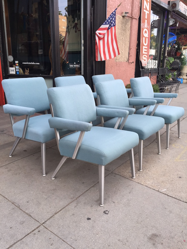 Set of 6 Aluminum Arm Chairs by Good Form Co.