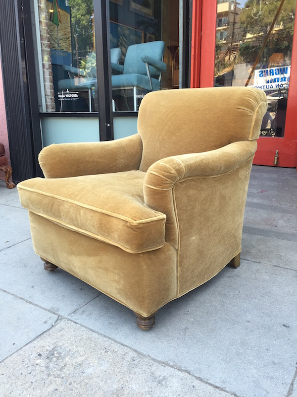 Classic Club Chair Made of Golden Mohair