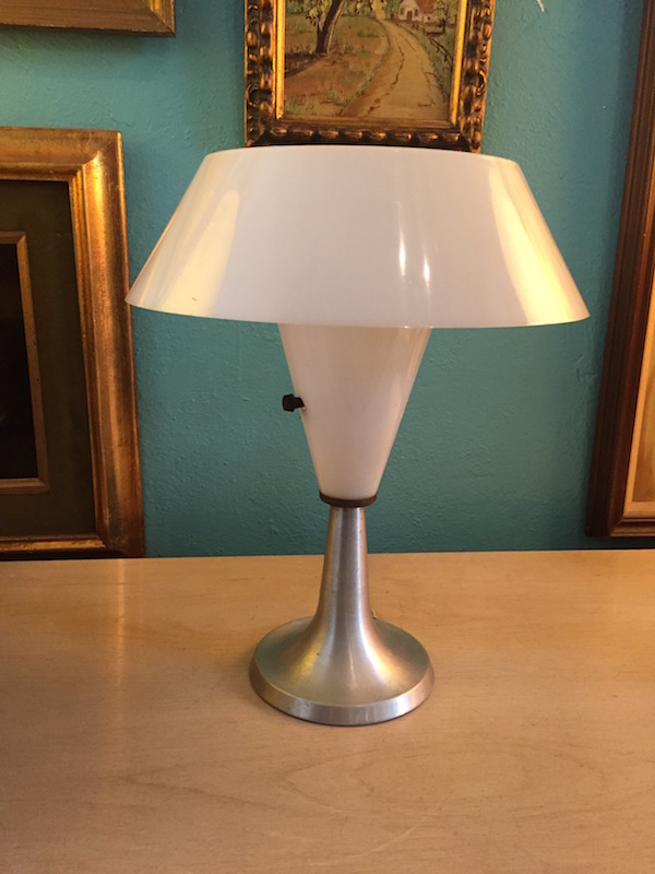 Mid-century Aluminum Table Lamp