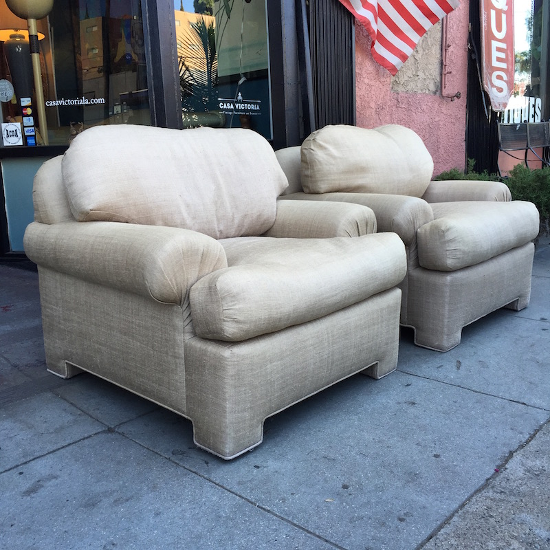 Pair of Classic Low Back Club Chairs by KREISS Co.