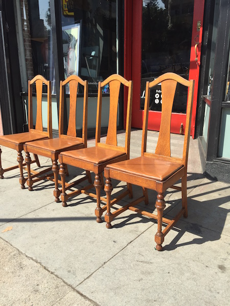Set of 1920s Mission Style Dining Chairs