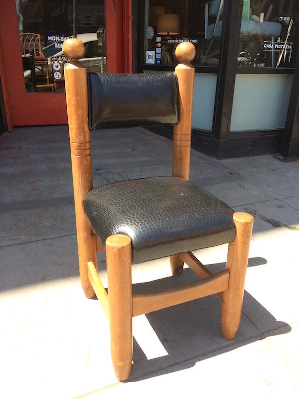 1970s Alligator Naugahyde Side Chair
