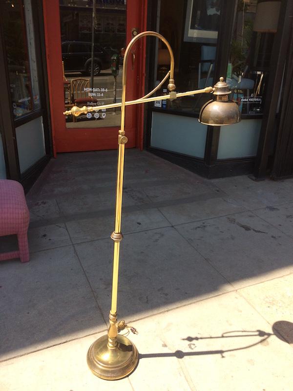 1970s Brass Floor Lamp