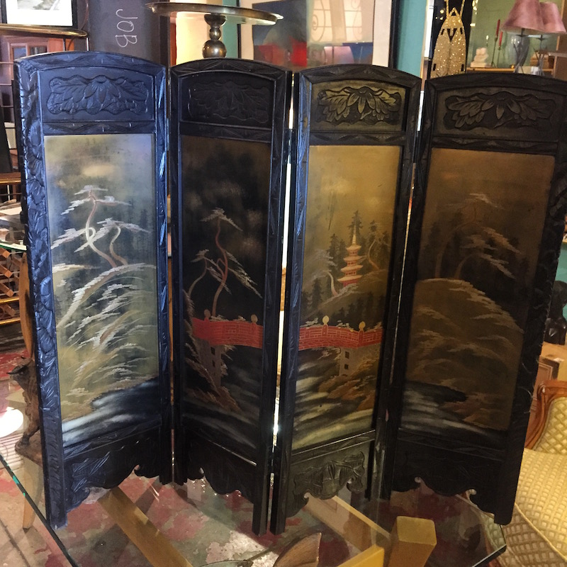 1950s Japanese Miniature Screen
