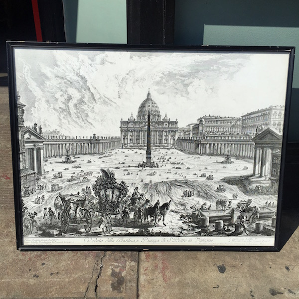 Mid-century Print of the Vatican