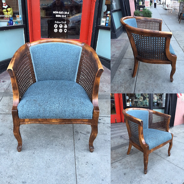 1970s Tweed Arm Chair
