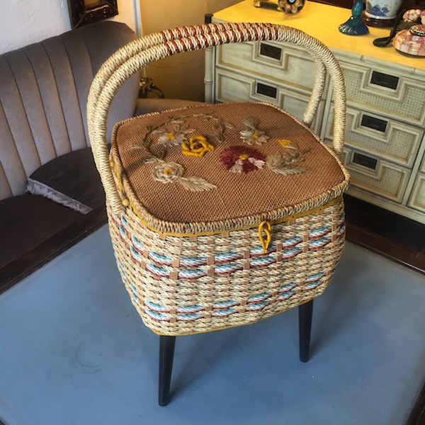 Mid-century Sewing Basket by Singer