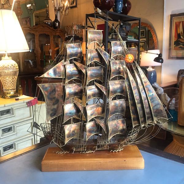 Classic Mid-century Ship Sculpture