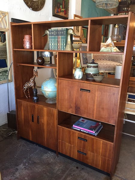 Mid-century Walnut Wall Unit