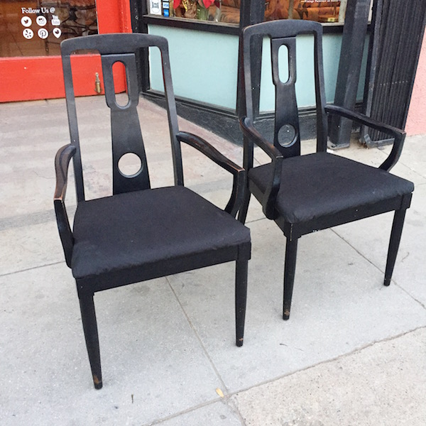 Pair of Vintage Modern-style Armchairs