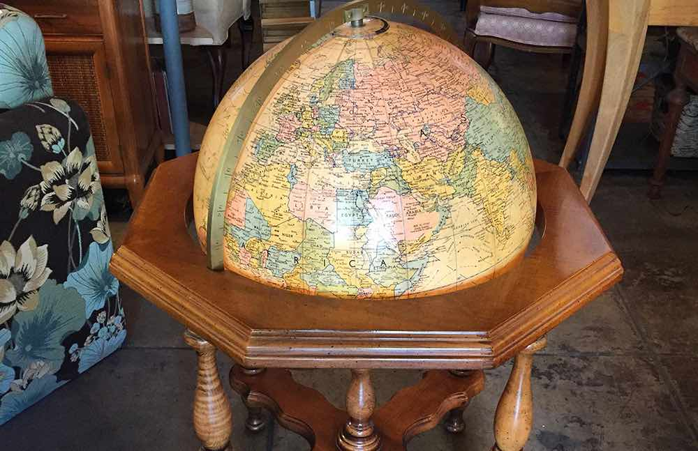 A Wide Selection of Globes are available at Casa Victoria La Vintage Furniture