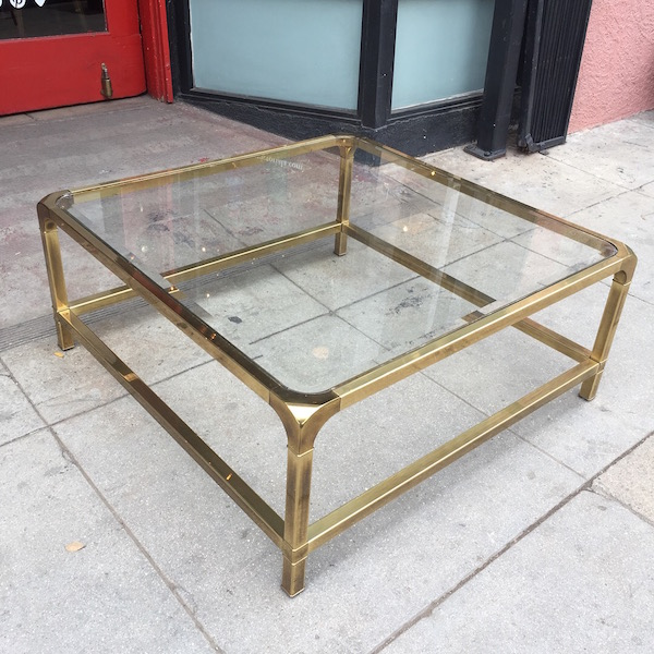 Functional Deco Vintage Square Brass Coffee Table Casa