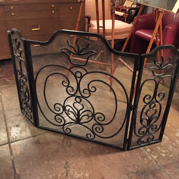 Vintage Iron Fireplace Screen
