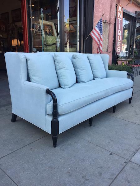 Custom Made Wing Back Sofa