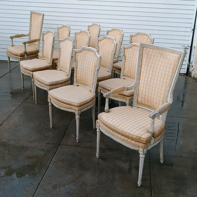 Set of 12 1950s Italian Dining Chairs