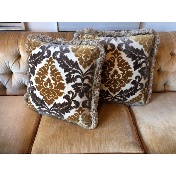 Pair of Vintage Velvet Pillows