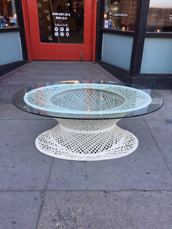 Spun Fiberglass Coffee Table