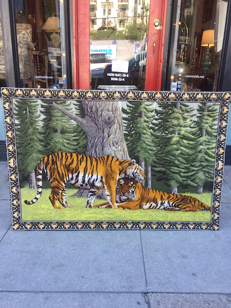 1970s Tiger Fabric Art