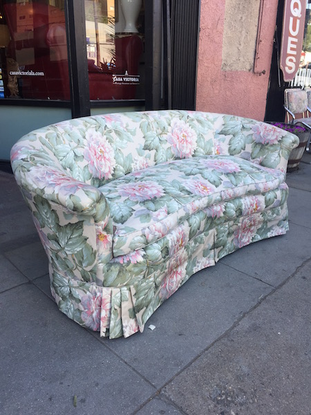 1930s Curved Floral Sofa