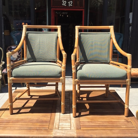 vintage furniture san francisco Prize Catch | Target back Rattan Dining Chairs by McGuire of San  vintage furniture san francisco